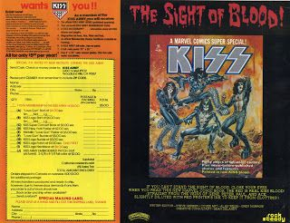 Kiss quality scans: LOVE GUN Merchandise Form