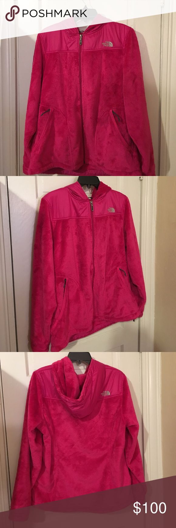 🔽REDUCEDNorth Face Women's Osito 2 Hooded Fleece Lightweight and super soft fleece zip up hooded coat from The North Face. Worn only once but I decided that pink was not my color. The North Face Jackets & Coats