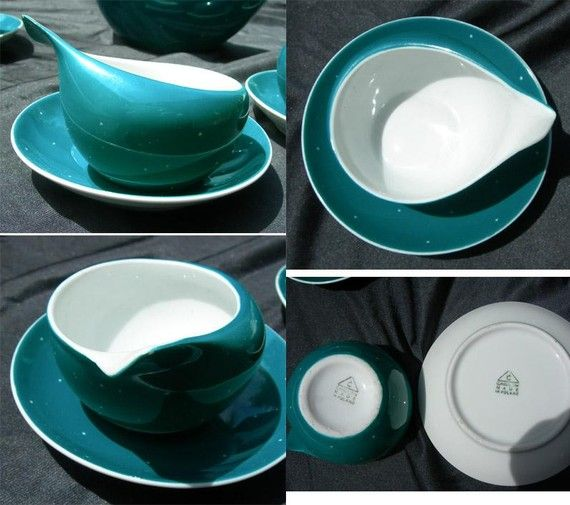 Fabulous Retro Cmielow Polish Porcelain Space Age Tea Set