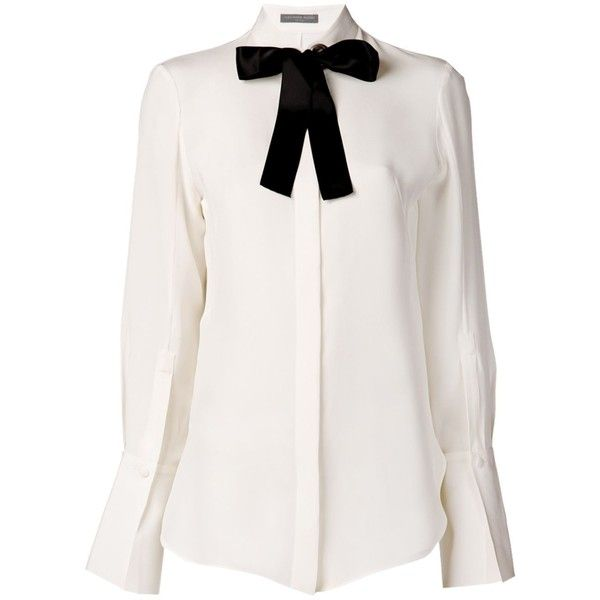 Alexander McQueen Bow Blouse found on Polyvore