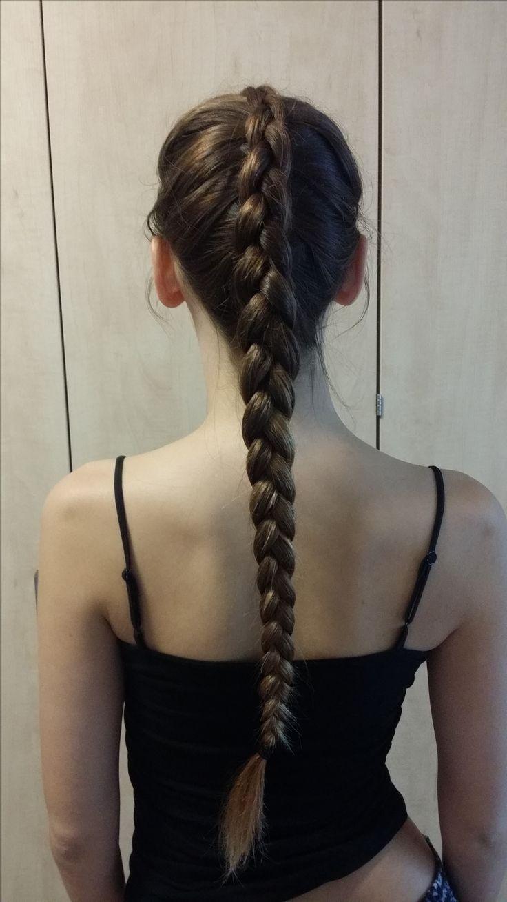 Doing my sister's hair! #dutchbraid #braid #plait #longhair #hairstyles #beauty #hair #brownhair #easyhairstyles