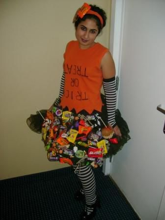 """Cute. Would be interesting if you velcro the candy on and """"rip"""" pieces off to give away. :P"""