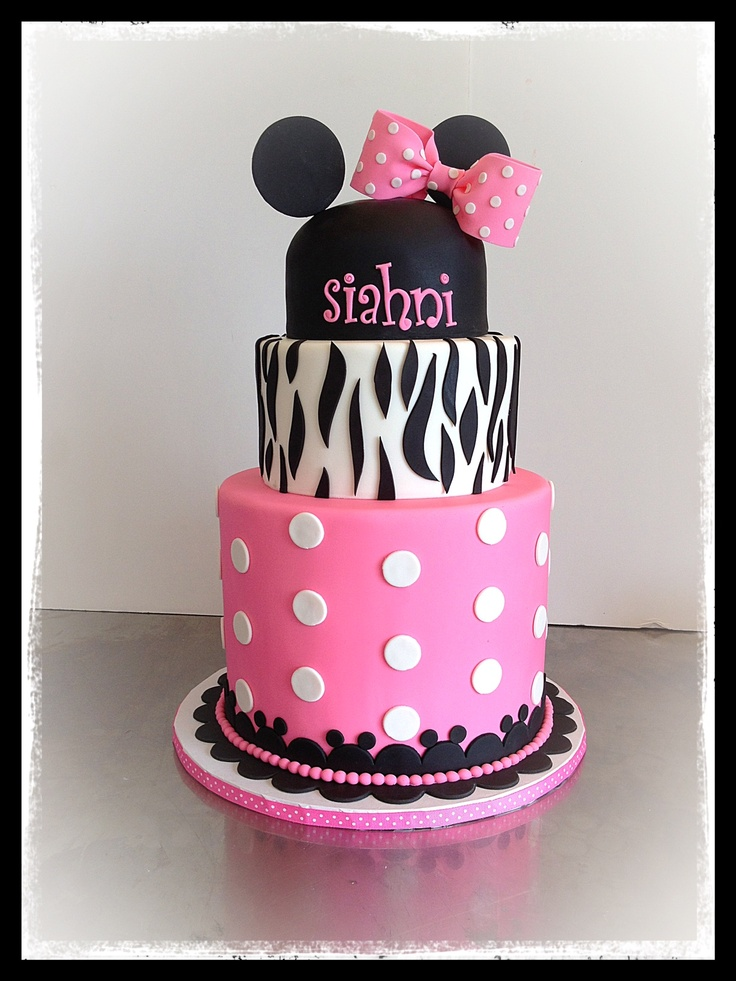 Disney Themed Cakes - Minnie Mouse cake