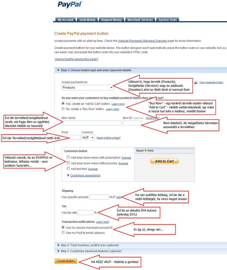 PayPal regisztráció, PayPal használata, PayPal fizetés, PayPal regisztráció leírás magyarul