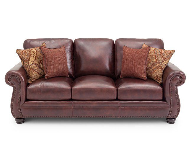 Furniture Row Leather Sofa This Could Work With Grey