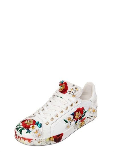 D&G embroidered trainers