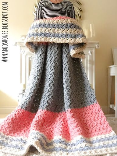 Enormous squishy blanket free #crochet pattern