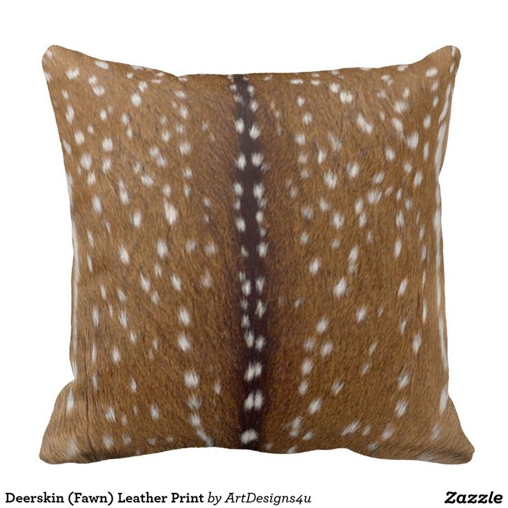 Faux Deerskin Pillow : Deerskin (Fawn) Leather Print Pillows Throw pillows, Throws, Blankets, Cushions, Etc ...