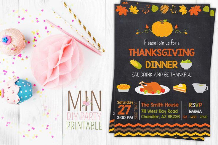Thanksgiving Invitation, Fall thanksgiving invites, turkey invitation party, Printable Turkey Dinner Thanksgiving Invite by minprintable on Etsy https://www.etsy.com/listing/256209144/thanksgiving-invitation-fall