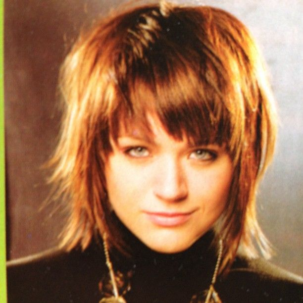 Medium shag with fringe bangs google search hair for How to find a medium