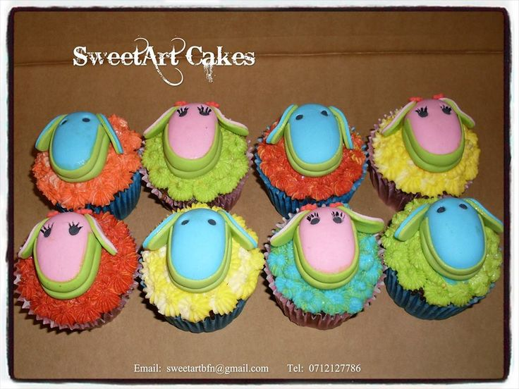 Lollos & Lettie cupcake toppers  For more info & order, email sweetartbfn@gmail.com or call 0712127786.