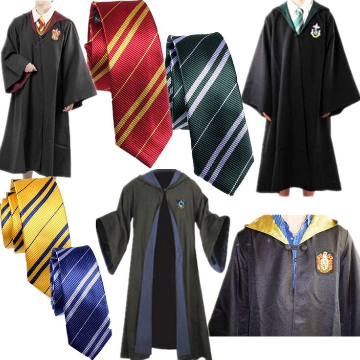 $37.99    Harry Potter Adult Cloak Cape Gryffindor/Slytherin/Hufflepuff/Ravenclaw Robe&Tie #New