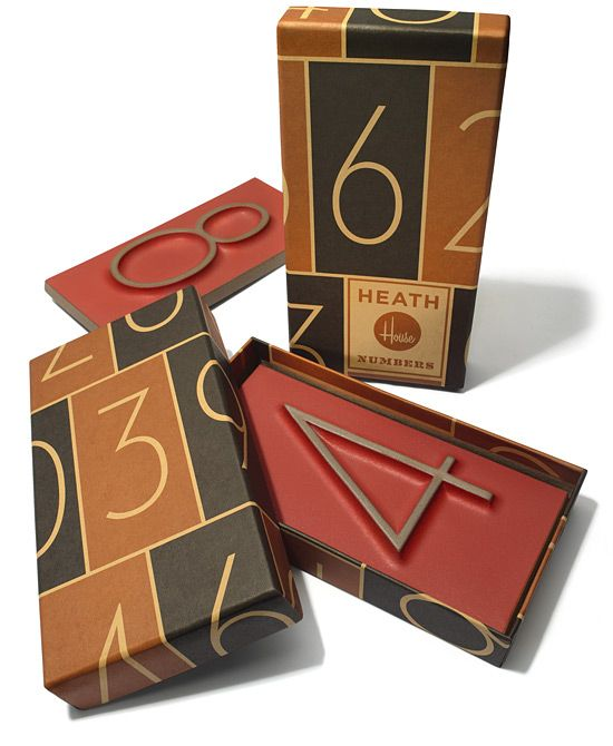 House Industries numbers: Design Inspiration, Graphic Design, Heath House, Package Design, Heath Ceramics, Packaging Design, House Numbers, Number Tile