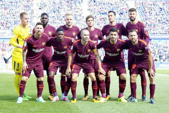 EQUIPOS DE FÚTBOL: BARCELONA contra Getafe C. F. 16/09/2017 Liga de 1ª División #futbolmessi