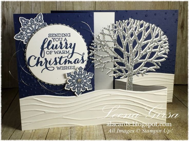 Christmas cards using Stampun Up Thoughtful Branches
