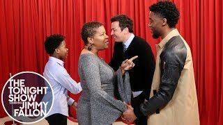 Chadwick Boseman Surprises Passionate 'Black Panther' Fans on 'Tonight Show' -   T'Challa himself gave a number of fans of his new film a big surprise as they voiced their thanks over the Marvel film.  Black Panther star Chadwick Bosemansurprised fans as they expressed their feelings of gratitude over the film on Wednesday'sTonight Show .  As fans lined up in front of a poster of T'Challa to voice their feelings, they were unaware that the King of Wakanda himself was listening behind a…