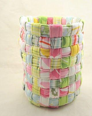 Fabric basket - yet another use for scraps