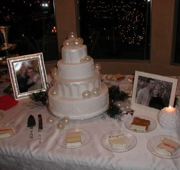 cake table decorating ideas wedding cake table with mini lights showing through the window in