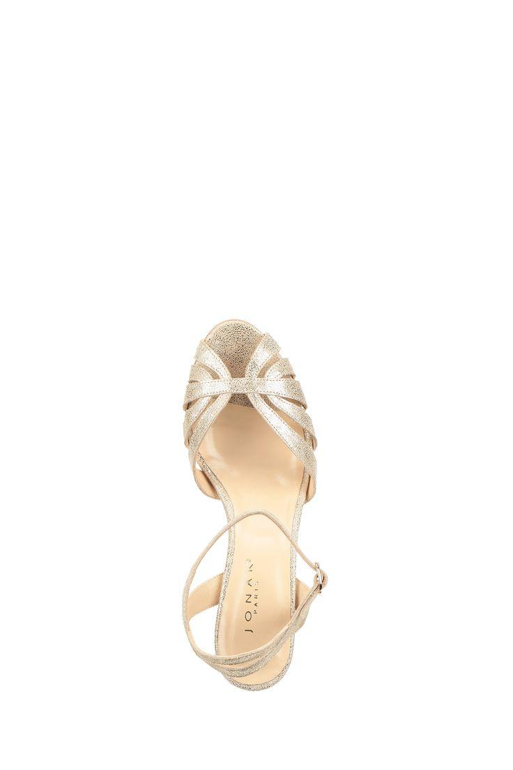 Sandales dorées Djana Doré Jonak sur MonShowroom.com