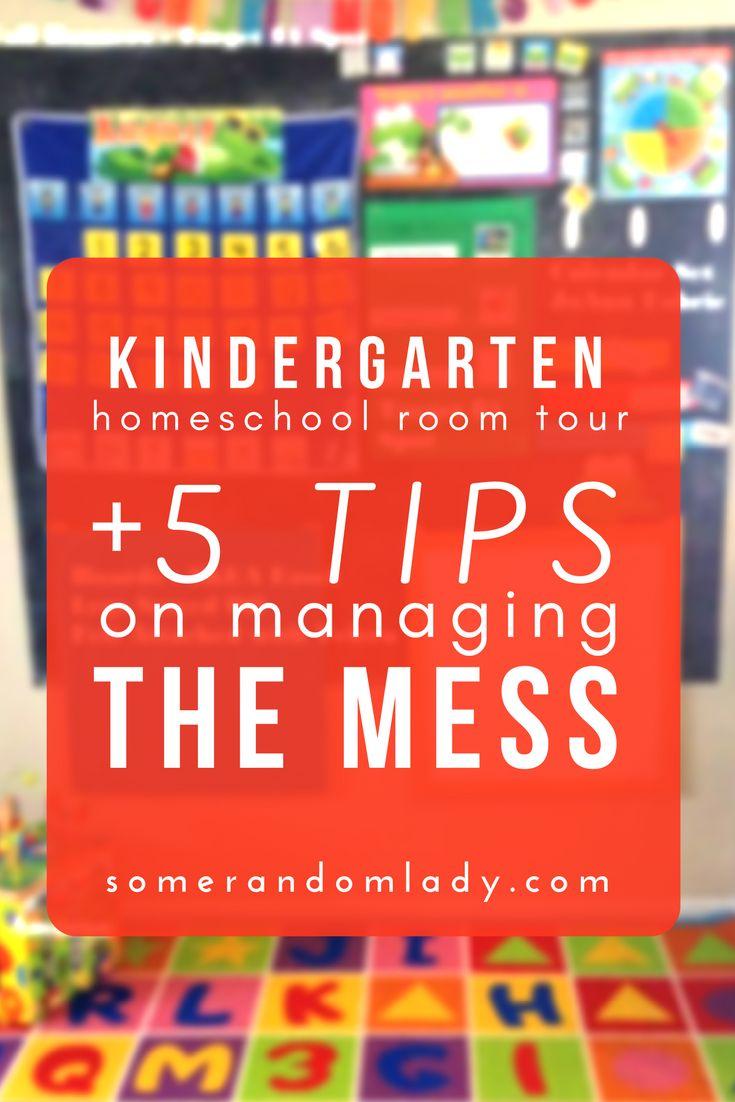 Kindergarten homeschool room tour plus five tips on managing the mess