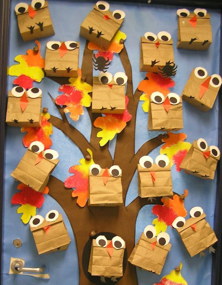 fall owl bulletin board idea cute