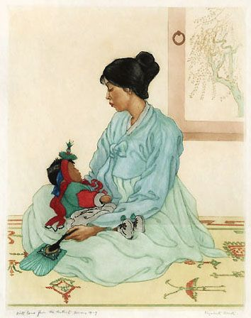 Korean Mother and Child-   Elizabeth Keith.