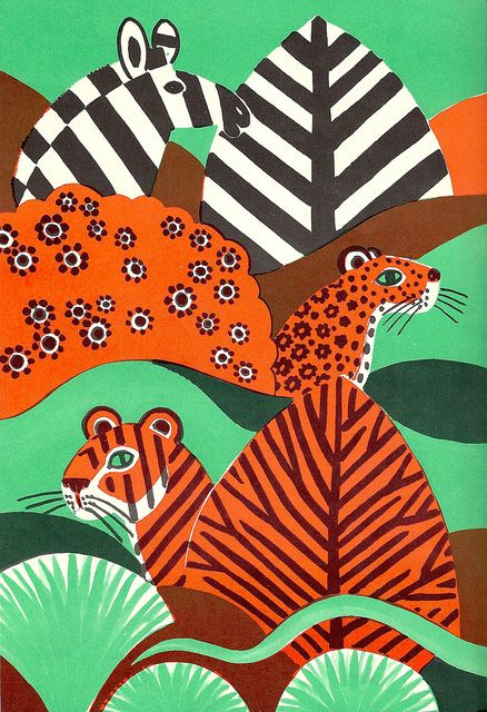 Three animals and their bush relatives, via Flickr.