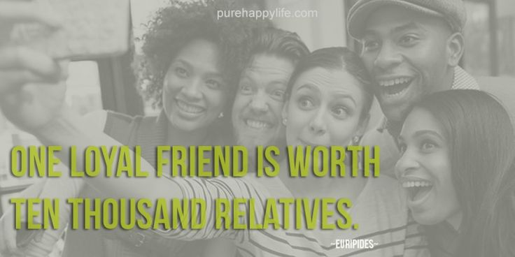 #quotes - One loyal friend is worth ten...more on purehappylife.com