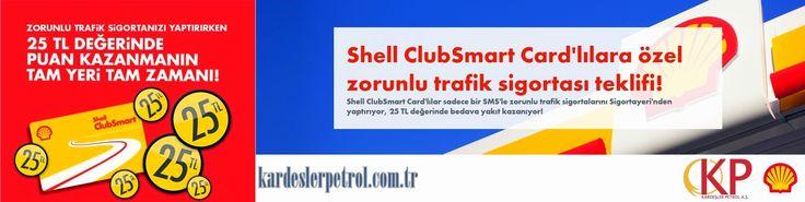 Shell / Yulaflı istasyonumuzda Shell ClubSmart Card'lılara özel 25TL değerinde puan kazanma teklifimiz var! Bekleriz.  http://kardeslerpetrol.com.tr/shellharita.htm