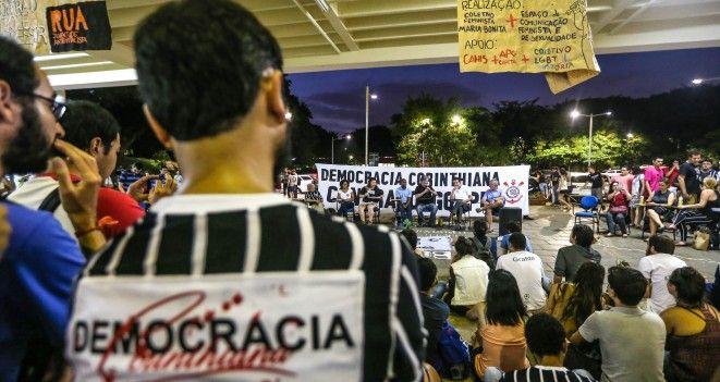 Ato realizado na Universidade de São Paulo contou com ex-jogadores, dirigentes, líderes de torcidas organizadas e nomes históricos do momento em que o futebol se uniu à luta pela democracia no início da década de 80.
