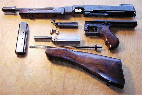 Томпсон М1, разборка.  Thompson M1.