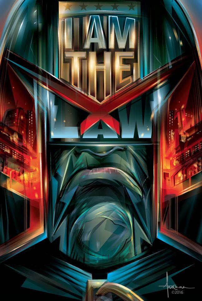 I AM THE LAW - JUDGE DREDD - by Vector artist - Orlando Arocena ~ Mexifunk on Behance