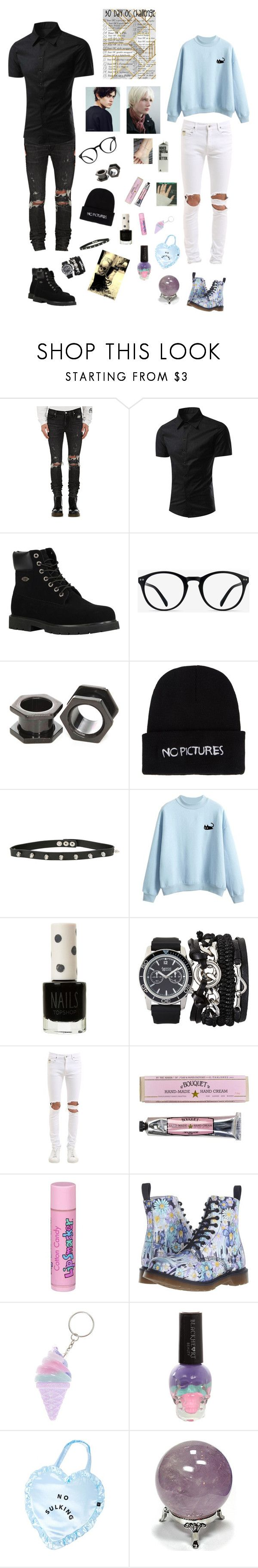 """Aeron and Cyprin"" by kenzeemck ❤ liked on Polyvore featuring RtA, Lugz, EyeBuyDirect.com, Nasaseasons, Hot Topic, Topshop, A.X.N.Y., April 77, Soap & Paper Factory and Bonne Bell"