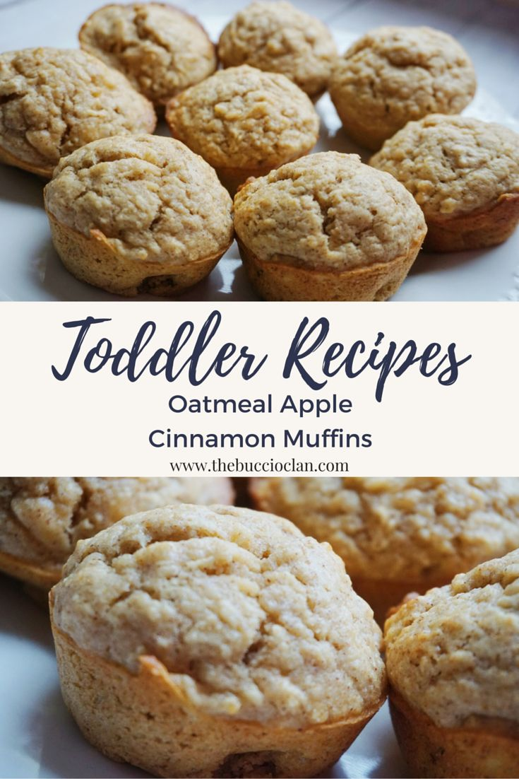 Super easy, super yummy oatmeal apple cinnamon muffins your whole family will love! Even your picky toddler!