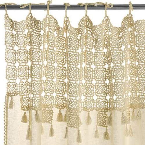 Las 25 mejores ideas sobre cortinas de ganchillo en for Gancho para cortina
