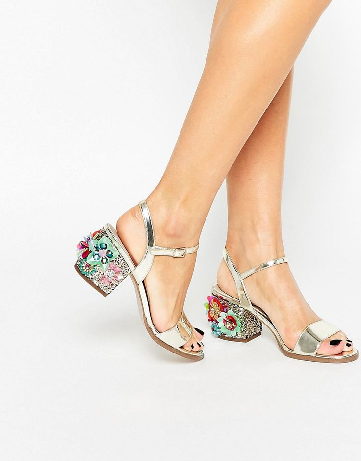 Image 1 ofASOS HARROGATE Embellished Heeled Sandals -- these shoes are so dreamy