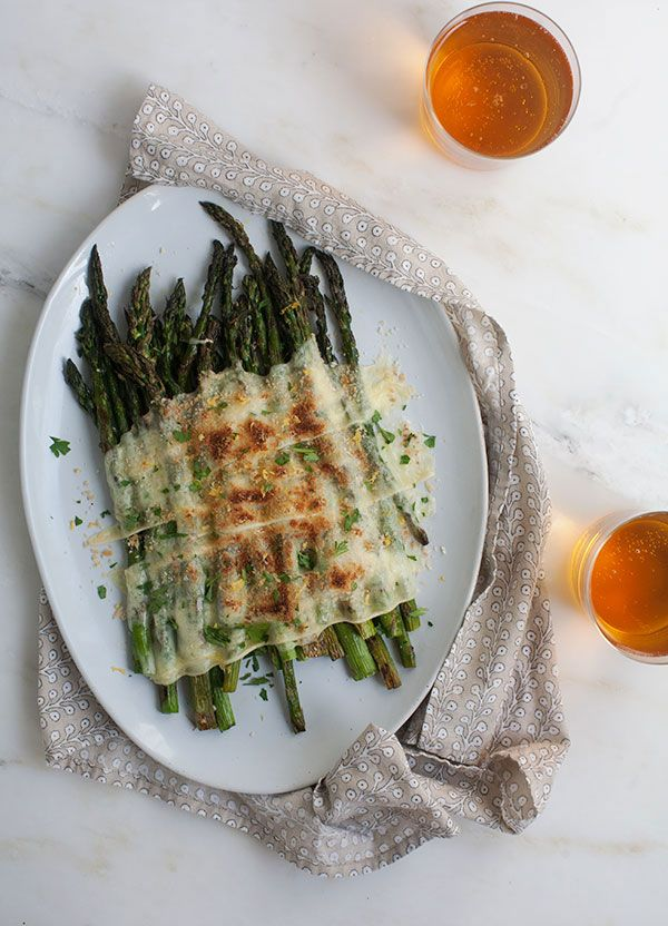 Grilled Asparagus with Raclette from PBS Food