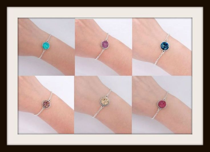 DRUZY BRACELETS Silver Plated & Antique Silver - Various Choices - Gift NEW