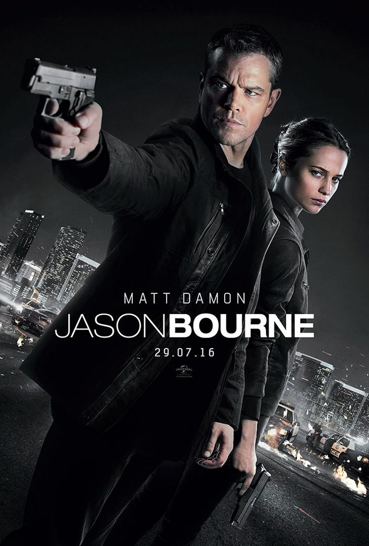 Jason Bourne ou Bourne 5 Film de Paul Greengrass avec Matt Damon, Julia Stiles. La traque de Jason Bourne par les services secrets américains