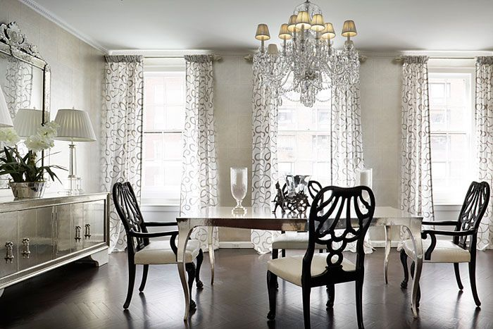 Silver Dining Room Sets Classy Design Ideas