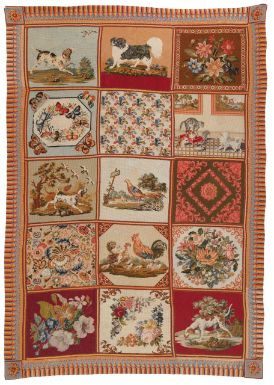 A Victorian needlepoint carpet, England - Sotheby's. This would be sooooooo fab in a french country cottage decor!!!!