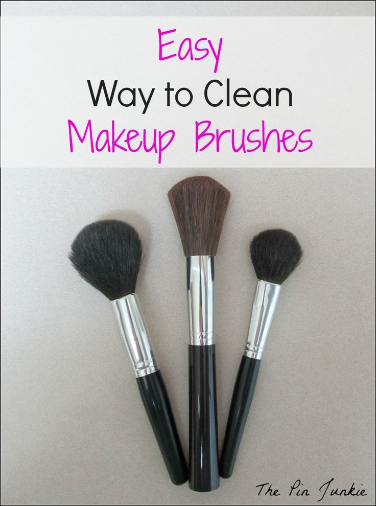 DIY: How to clean Makeup Brushes The Easy Way...having tried expensive brush