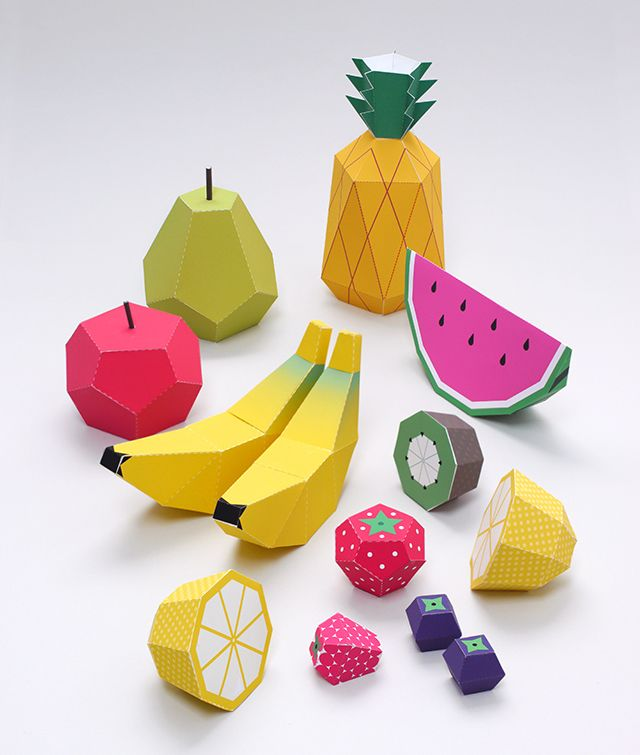 DIY Play Fruit Paper Toy from Mr Printables