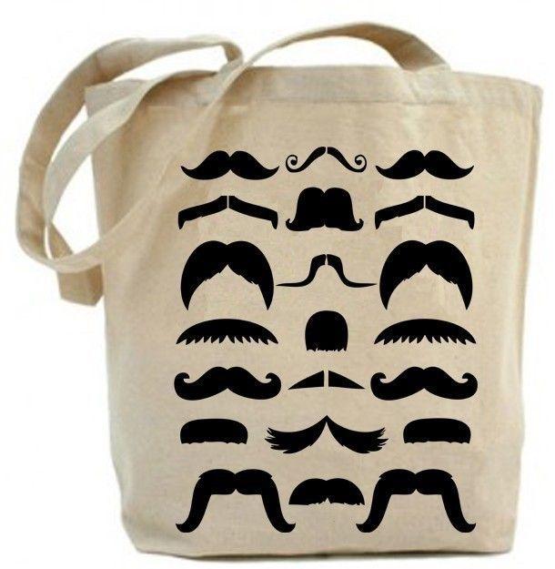 Canvas tote bag - Moustache Tote Bag.. $19.99, via Etsy.: Canvas Totes Bags, Moustache Totes, Shops Bags, Moustache Bags, Whiskers, Cotton Canvas, Big Books, Mustache, Canvas Tote Bags