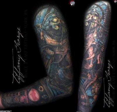 bioshock sleeve geek tattoos pinterest bioshock and sleeve. Black Bedroom Furniture Sets. Home Design Ideas