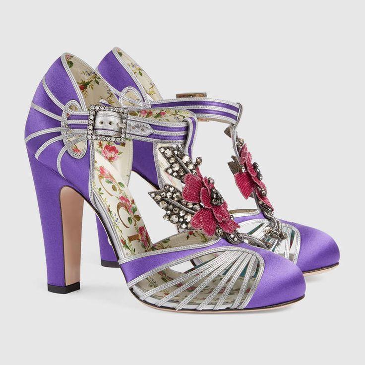 Gucci Escarpins salomé à fleur  Detail 2