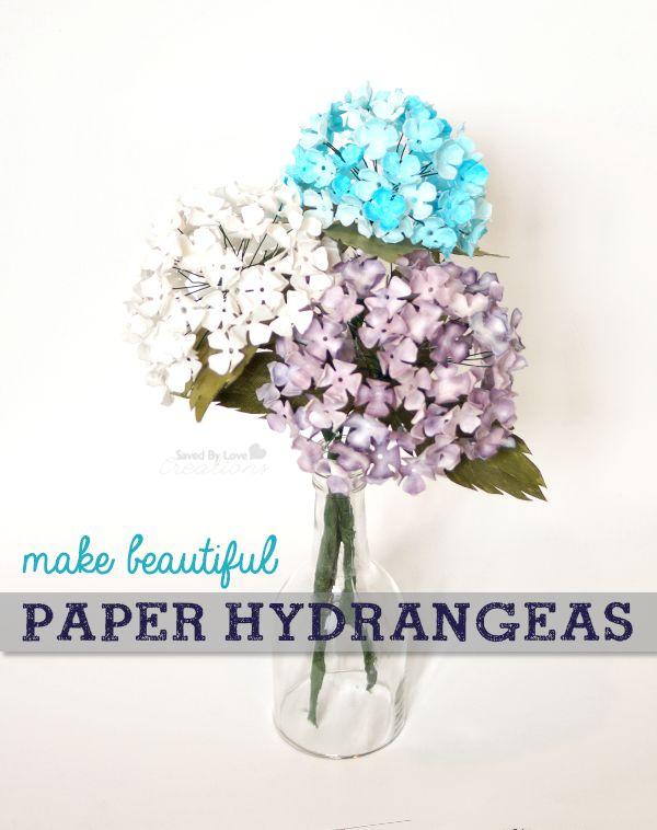 DIY Paper Hydrangeas!! Love these!