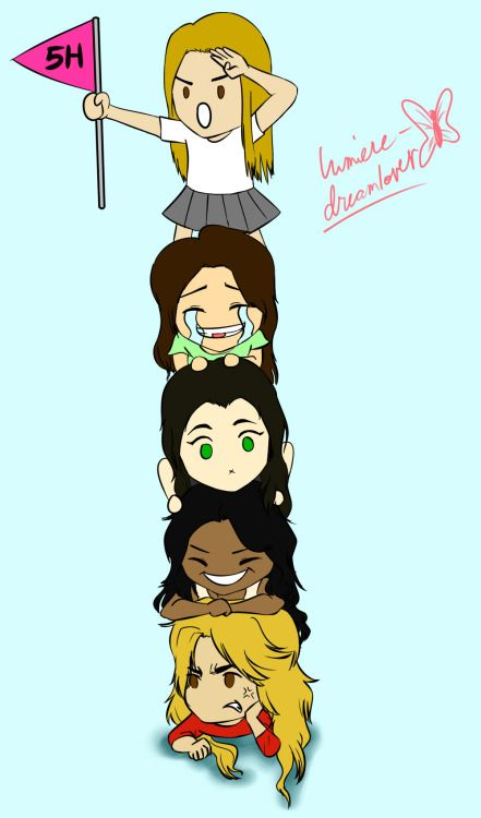 The Fifth Harmony Pile - in which Dinah Jane has to carry all the heavy load, Normani Kordei is simply laughing her ass off at her, Lauren Jauregui is posing, Camila Cabello is suffering from the mighty sunshine, yet she still manages a smile on her face, and Ally Brooke is having the time of her life, whilst she holds up the 5h flag she made herself.