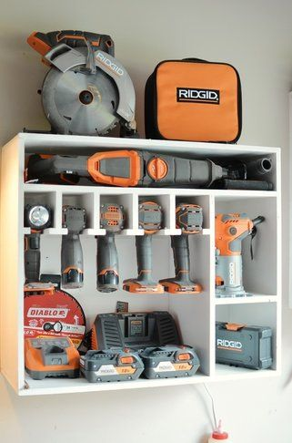 Ridgid Tool Storage & Drill Charging Station