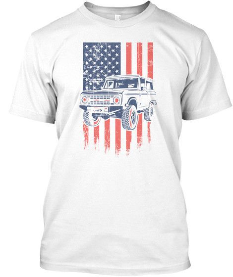 e96160f79c Ford Bronco American Flag 4X4 Truck Mens T-Shirt OVERSTOCK NEW 100% COTTON   fashion  clothing  shoes  accessories  mensclothing  shirts (ebay link)